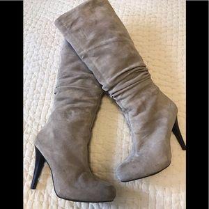 Banana Republic suede high heel boots